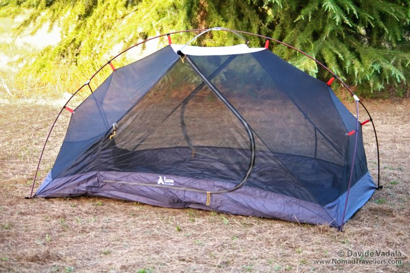 Side view of the inner tent only set up and ... & Light 2 person tent: Luxe Outdoor Habitat review - Nomad Travellers