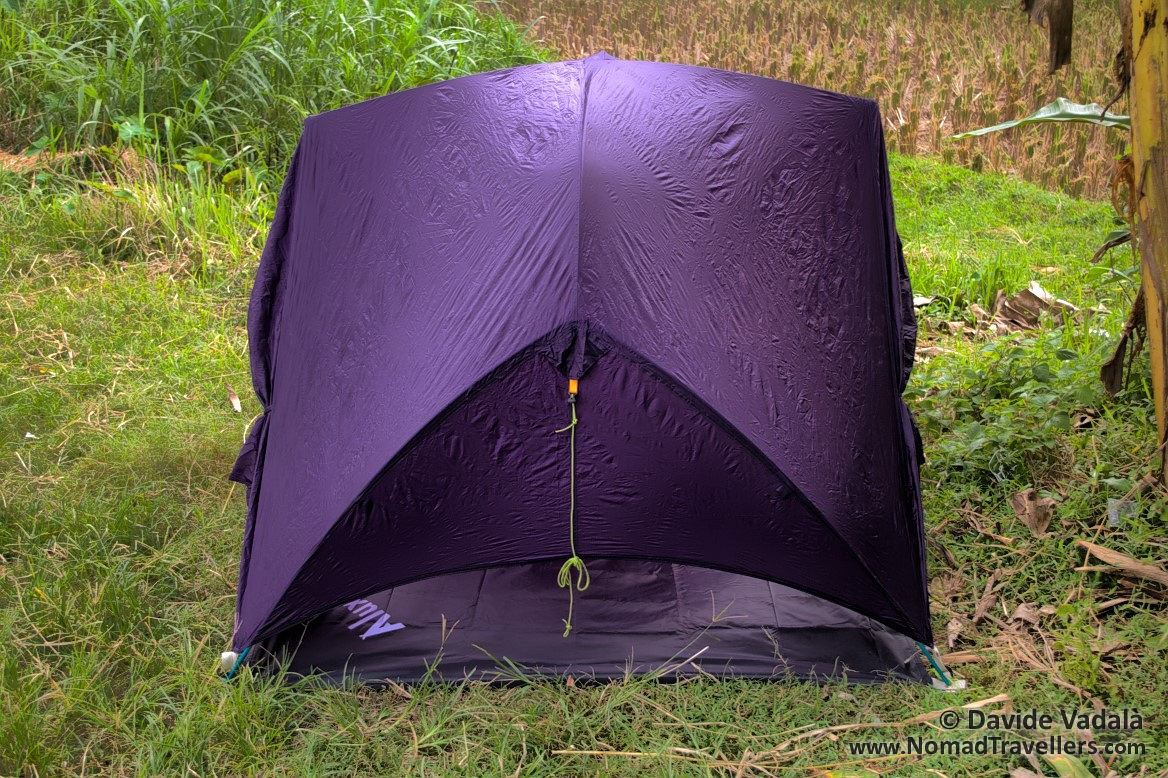 Side view of extra Footprint and Rainfly set up only & Luxe Outdoor Sil Habitat Review - Lightweight 2 person tent ...