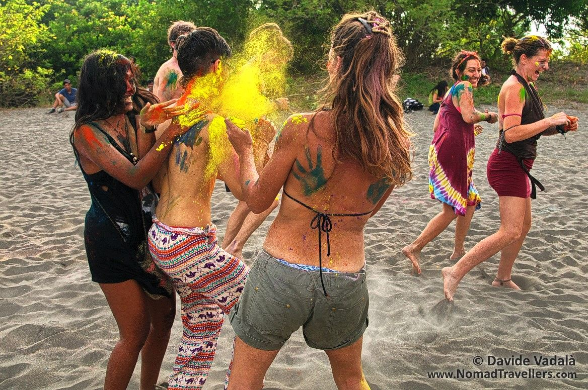 Holi Colour fight during Sound of Sand