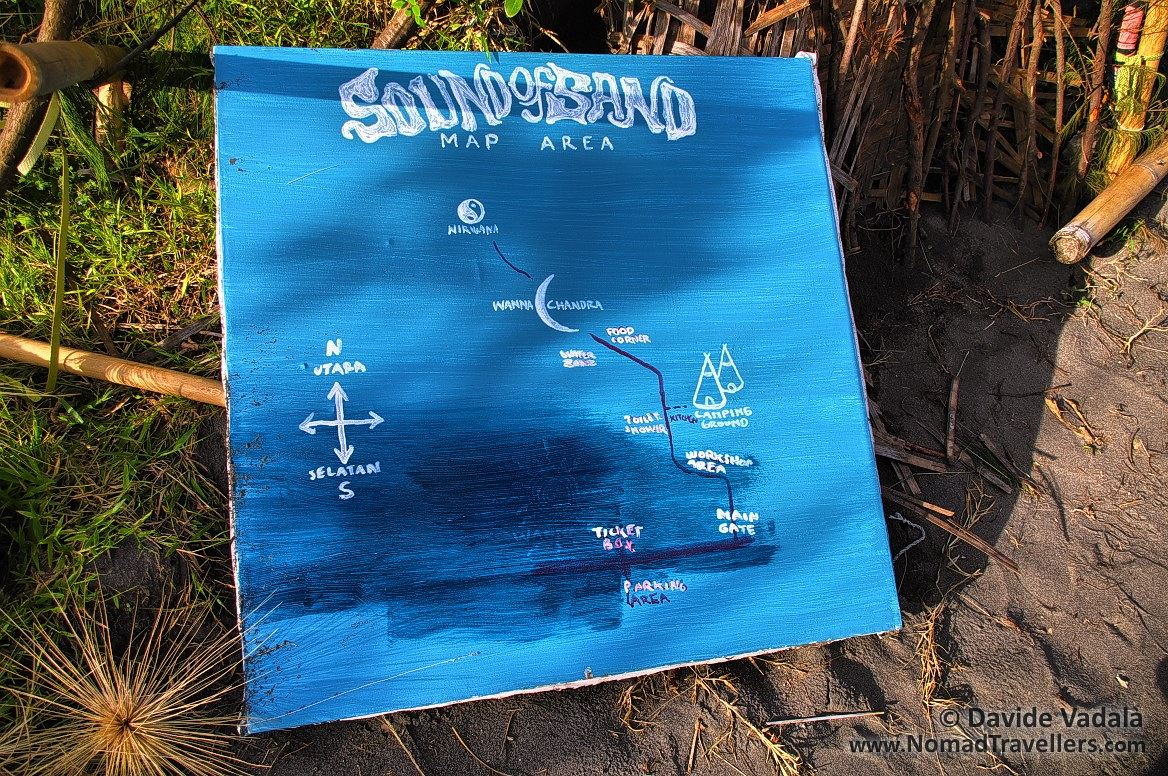 Map of Sound of Sand festival area