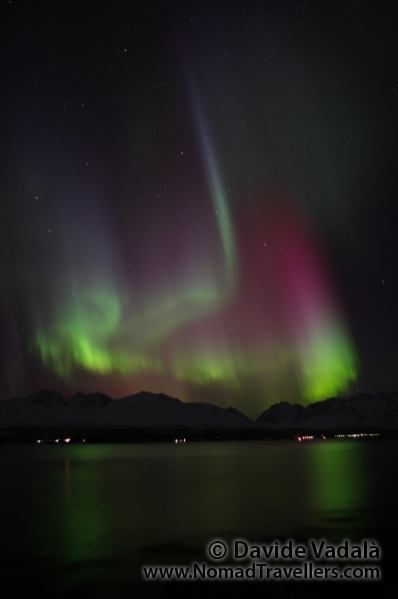 Amazing Northern Lights in Norway (Olderdalen, Lyngen Fjord)