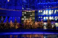Sony Center in Berlin at Christmas time