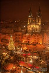 The Old Town Square in Prague at Christmas
