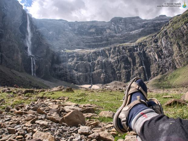 Davide taking a rest on the best spot to admire the Cirque de Gavarnie