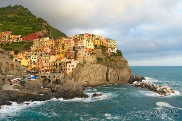 View of the village of Manarola