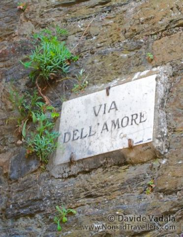 "Sign of ""Via Dell' Amore"""