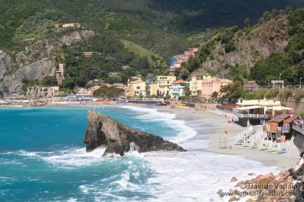 The beach in Monterosso al Mare