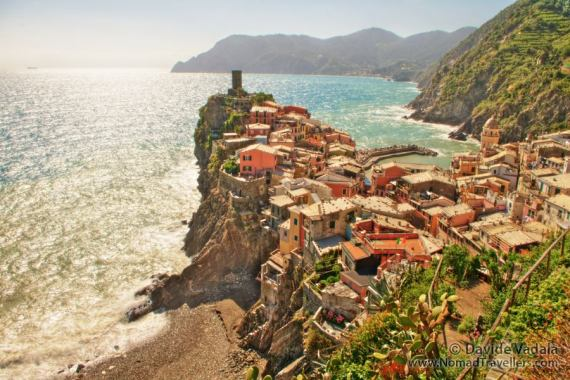 One of the views you get while hiking in Cinque Terre: the village of Vernazza