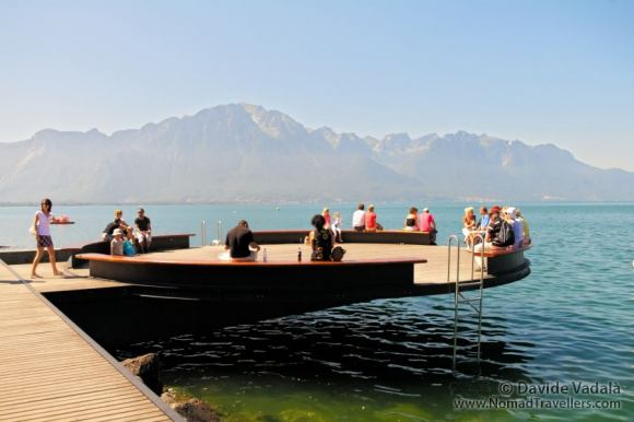 Platform over the water in Montreux