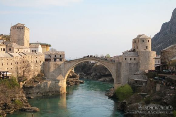The reconstructed Mostar bridge