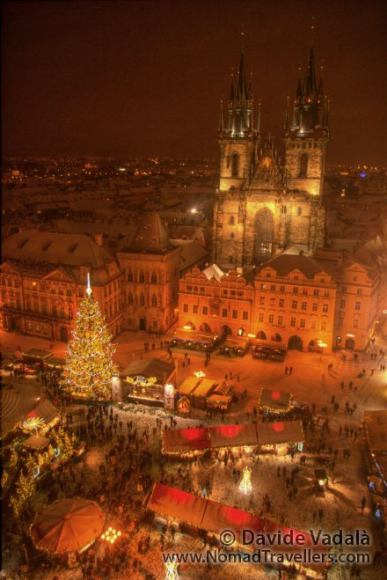 Christmas Market in the Old Town Square of Prague