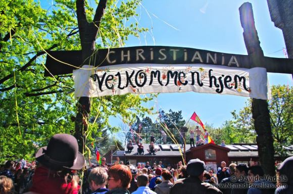 The demonstration for the re-opening of Christiania