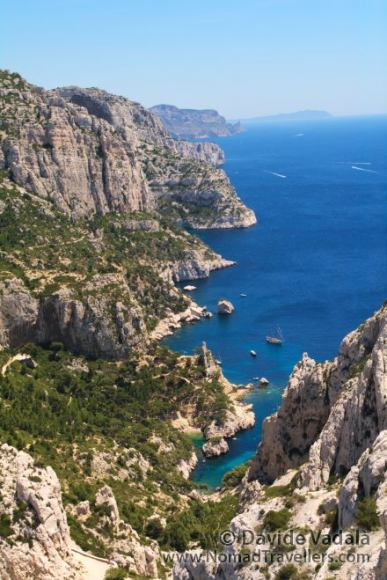 View of Les Calanques in France
