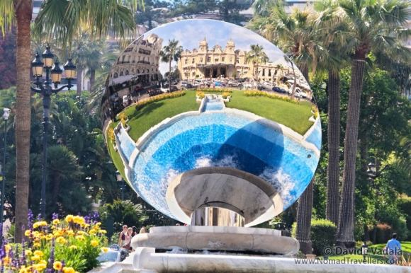 The Casino of Monte Carlo reflected in a mirror