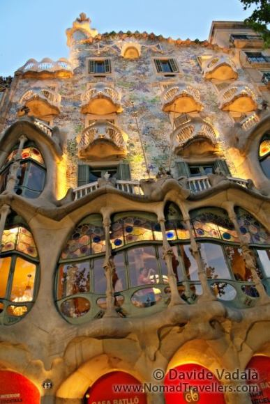 Casa Battló, one of the masterpieces of Gaudi, in Barcelona