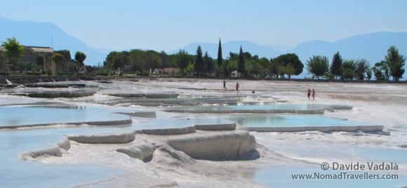 The natural pools of water in Pamukkale