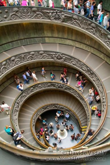 The worl famous spiral staircase of the Vatican Museum