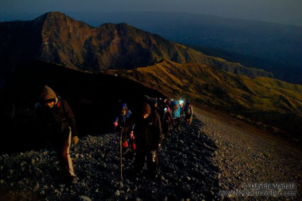 Almost to the top of Rinjani Volcano