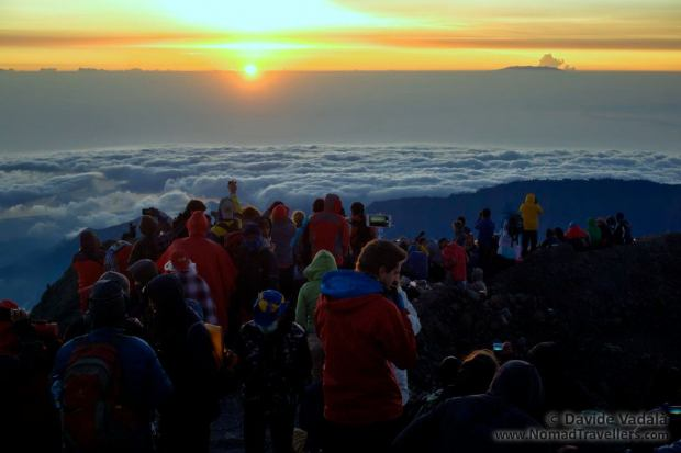 Sunrise fron Mount Rinjani summit