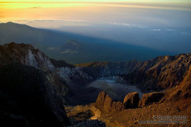 Contrast of light and landscape from Rinjani's top