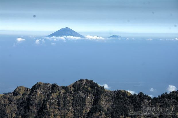 Close-up of Mount Agung, the highest mountain in Bali