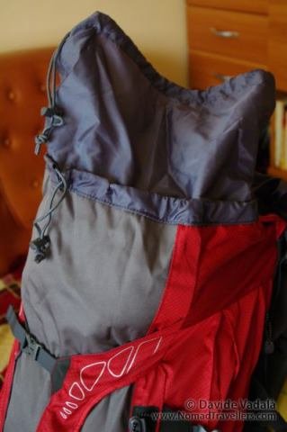 Highlander Discovery 85 liter backpack: extensible top