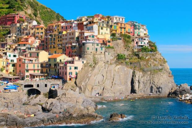 View of Manarola over the cliff
