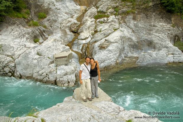 Me and Oti in the river next to the road to Valbona