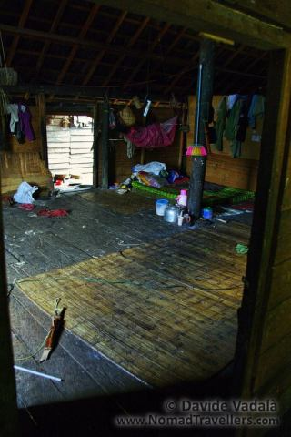Private space with sleeping quarter and kitchen in Eheng longhouse