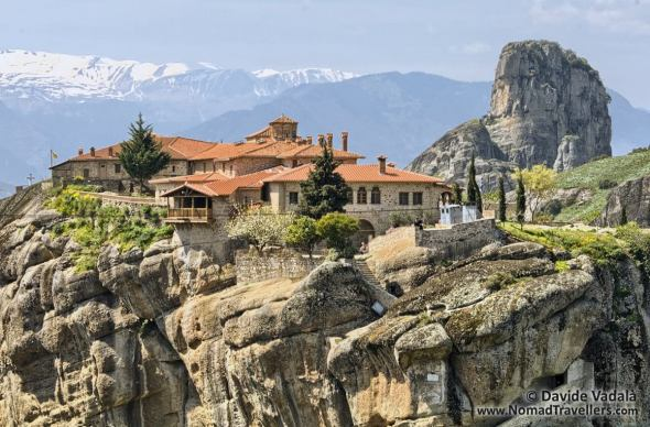 Monastery of the Holy Trinity and Pindus mountain range