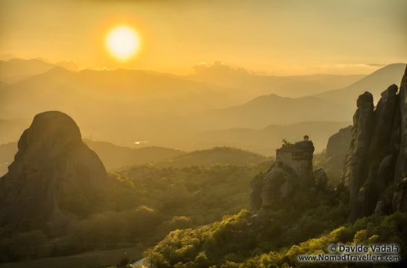 Perfect location for the sunset in Meteora