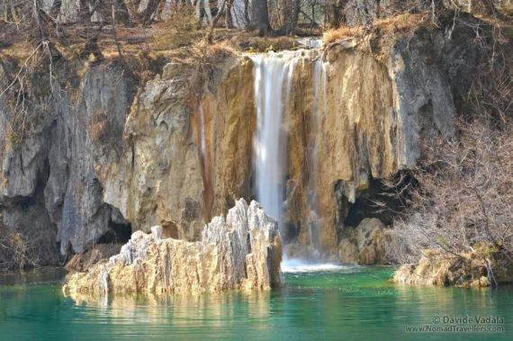 One of the amazing waterfalls in Plitvice Lakes National Park