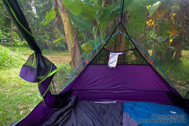 Interior view of the Luxe Outdoor Sil Habitat tent