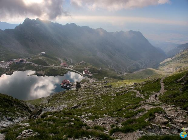 The Transfagaran road and Balea Lac in the same photo