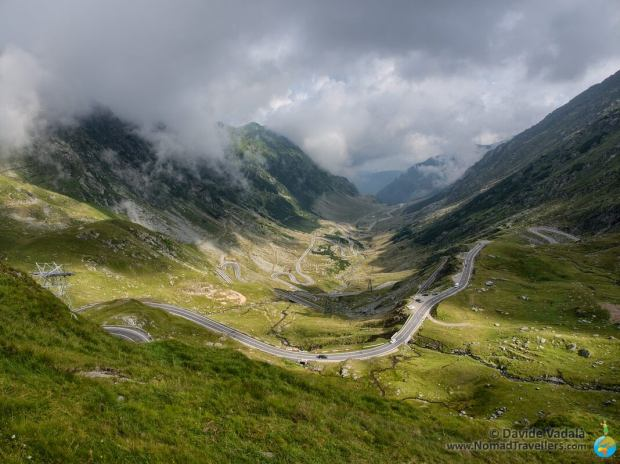View of the Transfagarasan highway