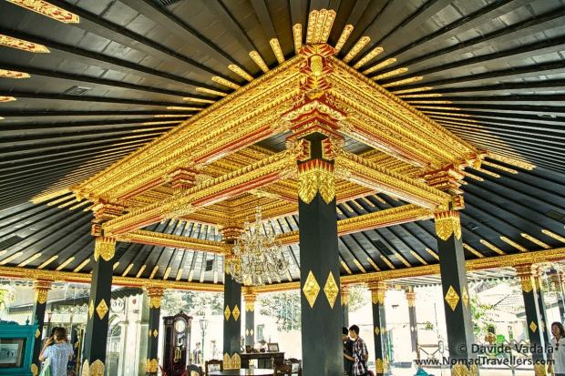 Roof of the Golden Hall inside the Sultan Palace (Kraton)
