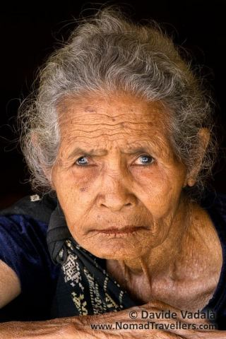 Portrait of a local woman in Nage village, Flores