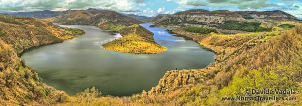 View over an oxbow in Kardzhali Reservoir - Dam